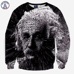 Pullovers For Long Tops Canada - Hip Hop New hoodies for men 3d sweatshirts creative print great scientist Einstein casual autumn hoodies tops pullover