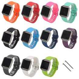 Color Watch Bands Canada - Sport Silicone Watch Band For fitbit blaze smart watch Straps Sport Buckle Bracelet smart watch solid color environmentally materials GSZ273