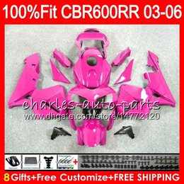Pink fairings online shopping - 8Gifts Colors Injection For HONDA CBR RR F5 CBR RR NO117 Rose Pink CBR600RR CBR600F5 CBR600 RR Fairing kit
