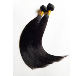 Discount russian peruvian hair - Sexy Peruvian Malaysian Indian remy Human Hair Extensions 3 4 5pcs Natural Color and Black #1 #1b Factory price Brazilia
