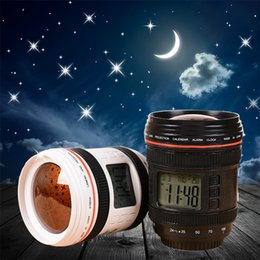 Analog Digital Camera Canada - Creative simulation camera projection clock Multi-function alarm clock lazy alarm with music stars effect