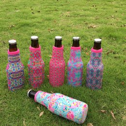 $enCountryForm.capitalKeyWord Canada - Lilly Floral Bottle Cooler Floral Bottle Wrap Crown Flamingo Rose Bear Covers Wedding Gift in 6 Colors DOM106508