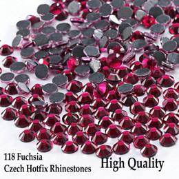 Hotfix Rhinestones NZ - High Quanity Shiny Hotfix Rhinestones Fuchsia SS6 - SS30  Flatback Iron On 20ddb3ae124e