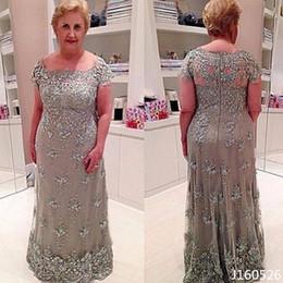 Elegant Plus Size Mother Of The Bride Dresses Lace Applique Groom Dress Vintage Evening For Weddings Custom Made
