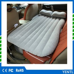 $enCountryForm.capitalKeyWord Canada - Car Air Mattress Travel Bed Car Back Seat Cover Inflatable Mattress Air Bed Good Quality Inflatable Car Bed For Camping china supplier