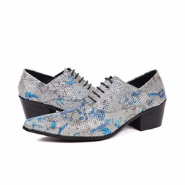 $enCountryForm.capitalKeyWord NZ - Men Dress Shoes Fashion Flower Printed Lace Up Wedding and Party High Heels Shoes Christmas Gifts for Men