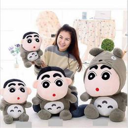 kid video cartoon 2019 - 35CM New Cartoon My Neighbor Totoro Crayon Shin Chan Cute Plush Toys Soft Kawaii Stuffed Animals Anime Kids Cat Toys Dol