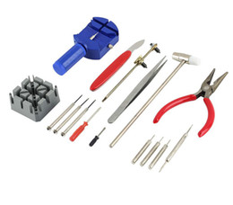China 2017 High Quality New Universal 16PC Set Watch Clock Opener Tool Kit Watch Repair Tool Cell Pin Remover Fixed Tools Watchmaker supplier watch fixing tools suppliers