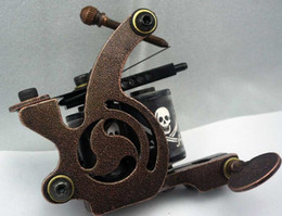Machines À Tatouer Sur Mesure Pas Cher-5Pcs / lot Machine de tatouage professionnelle à la main 10 bobines d'enroulement Iron Cast Frame Custom Tattoo Gun pour liner Shader HTM-6154