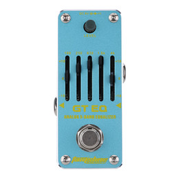 ElEctric guitar EqualizEr online shopping - AROMA AEG GT EQ Analog Band Equalizer Electric Guitar Effect Pedal Mini Single Effect with True Bypass acoustic guitar pedals