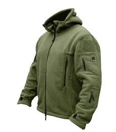 OutdOOr military jacket online shopping - Winter Military Tactical Outdoors Softshell Fleece Jacket Men US Army Polartec Sportswear Clothes Warm Casual Hoodie Coat Jacket