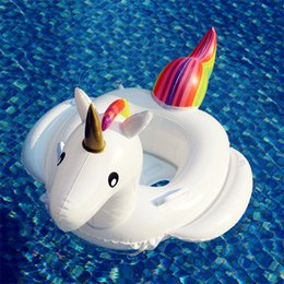 $enCountryForm.capitalKeyWord NZ - Unicorn Baby Swimming Ring Seat Inflatable Unicorn Pool Float Baby Summer Water Fun Pool Toy Kids Swimming Float