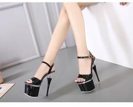 Heels Platforms 18cm Canada - 18CM Heel Height Sexy Peep Toe Stiletto Heel Platform Party Shoes heels No.103B