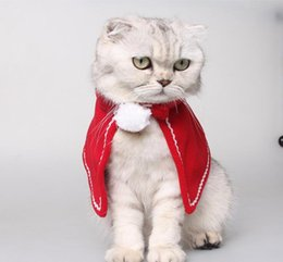 Costume Chat De Noël Pas Cher-Rouge Noël Costume Chien Chat Petit Cape Pet Mini Jupe Cape G1081