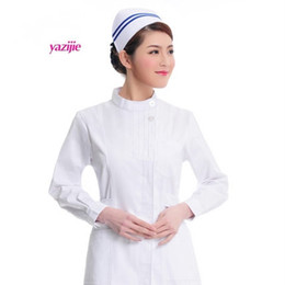 Wholesale Doctor white long sleeved dress nurse short sleeved uniform experiment under drugstore beauty salon work