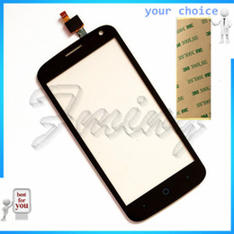Zte Touch Panels Canada - Wholesale- 4.5 inch phone touch sensor front glass For ZTE Blade Q Lux   Qlux 3G 4G touch screen digitizer touch panel parts Free ship+tape