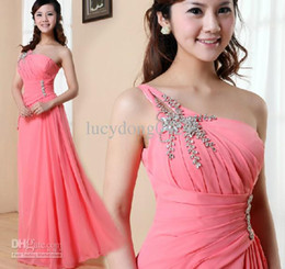 Chinese  New Cheap Hot sale one shoulder sequins embellished elegant formal evening dress Bridesmaid Dresses Wedding Party Dresses manufacturers