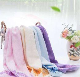 $enCountryForm.capitalKeyWord NZ - 120g Natural Organic Bamboo Fiber Towel! 34*76 cm jacquard satin towel, for face towel Bath , softness baby towels,top quality
