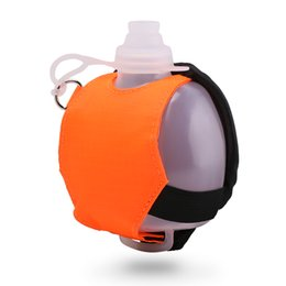 Water Bottle Wholesale For Sports UK - New 200ml Wrist Sports Water Bottle Food Grade Silicone Drinking Hands Bottle with Cover Bag Strap for Outdoor Climbing Running Wholesale