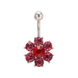 sunflower rings 2018 - 2016 Most hot selling Sexy Body Jewelry Body Ring Sunflower Navel Bell Button Rings for Hot Girls for Young Lady for Bar