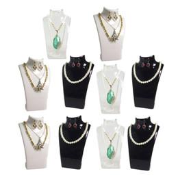 Мода ювелирные изделия дисплей бюст акриловые ювелирные изделия ожерелье ящик для хранения серьги кулон организатор дисплей набор стенд держатель манекен стойки