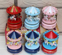 $enCountryForm.capitalKeyWord NZ - Carousel Music Box Birthday Gift Toys For Children Bless Animated Luxury 4 Horse Go Round Musical Swings Carousels Classic Music Box