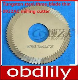 $enCountryForm.capitalKeyWord Canada - Raise Tungsten steel three-blade thin 0022AC.C. milling cutter For WenXing Key Cutting Machine 100B,202,100A locksmith