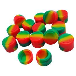 Silicone Non Stick No Goo Jar 2 ml Small Silicone Jars Contenedor de cera Dab Silicone Round Container en venta