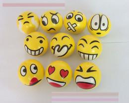 StreSS ballS kidS online shopping - New FUN Emoji Face Squeeze Balls Stress Relax Emotional Toy Balls Fun balls EMS shipping E1789