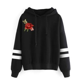 Girls hooded sweatshirts online shopping - Women Pullover Autumn Women Floral Printed Hooded Hoodies Long Sleeve Sweatshirt Sexy Girl Top Sportwear Hoodie