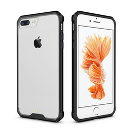 Iphone Air Case Transparent NZ - For iPhone 7plus Case Air Cushion Tech Soft TPU Bumper Clear Back Cover Transparent Hybrid Armor Phone Cases For iPhone 7 Plus