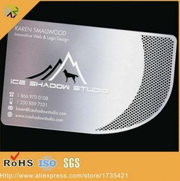 $enCountryForm.capitalKeyWord Canada - factory price Engraved etching steel metal card metal business name cards with both side printing
