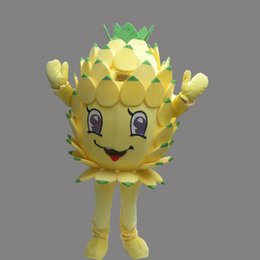 Trajes Adultos De Halloween Baratos-Cute Fruit Pineapple Adult Size Mascot Bromeliad Costume Fancy Birthday Party Dress Disfraces de Carnaval de Halloween con alta calidad