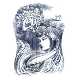 China Wholesale- Oriental Traditional Art Mask Sexy Beauty Makeup Body Art 3D Waterproof Temporary Tattoo Stickers supplier sexy makeup tattoos suppliers
