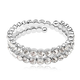 China New sparkle ladies bangles and bracelets made with genuine Swarovski elements crystal top quality fashion brands jewellery for women suppliers