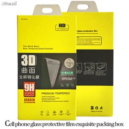 Wholesale Boxes Packaging Canada - Empty Paper Retail Boxes Package Packing Packaging For S7 edge S8 plus 9H 3D Premium Tempered Glass Screen Protector Film Box Free Delivery