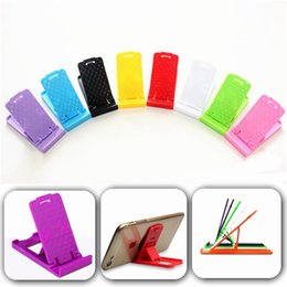 Lazy ceLL phone hoLder online shopping - Portable Foldable Mini Table Plastic Stand Holder Adjustable Phone Bracket Lazy Holder for iphone Samsung ipad Cell phone Universal