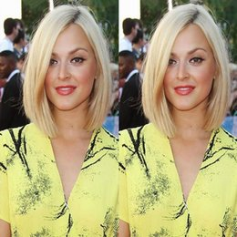 straight blonde wig roots 2019 - Short Bob Silk Straight Brazilian Human Hair Lace Front Wigs Dark Root #1b#613 Blonde Ombre Glueless Full Lace Wig With