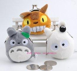 Vente en gros Vente en gros - Super mignon Mini TOTORO BAG, 3Models 7CM TOTORO Petite bourse Change Wallet Pouch BAG; Pochette porte-monnaie poche
