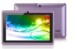 Webcam Wifi Tablet Australia - sell 1 pc lowest price best quality Dual Camera Q88 A33 Quad Core Tablet PC Flashlight 7 Inch 512MB 8GB Android 4.4 Wifi Allwinner Colorful