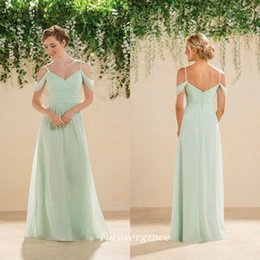 Green Wedding Guest Dresses Canada - High Quality Cheap Mint Green Bridesmaid Dress A-Line Chiffon Maid of Honor Dress Wedding Guest Gown Custom Made Plus Size