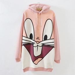 $enCountryForm.capitalKeyWord Canada - 2017 Plus size women's warm fleece padded thicken hoodies cartoon rabbit print long Hooded sweatshirt M88#