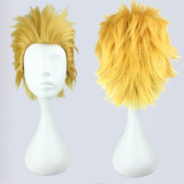 Wig Short White NZ - MCOSER Light Golden Fashion Princess Fate Zero Gilgamesh Classical 30cm Short Cosplay Wig Free Shipping