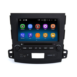 Mobile 3d videos online shopping - 8 quot Touch Screen Android System Double DIN Auto Radio For Mitsubishi Outlander GPS D MAP SWC OBD DVR G RAM G ROM Quad Core Car DVD