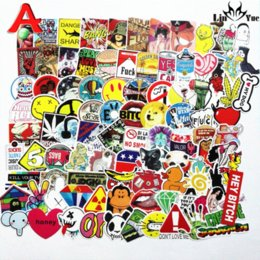 100pcs x6 not repeating waterproof stickers for Home decor Travel Suitcase Wall Bike fridge Sliding Plate Car Styling sticker from twist cartoon suppliers