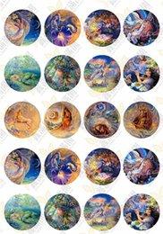 $enCountryForm.capitalKeyWord Australia - BoYuTe (20 pieces lot) 20mm Round Pattern Cabochon Mix Zodiac Tree Camouflage Illusion Image Glass Cabochon Blank Pendant Cover xl6755