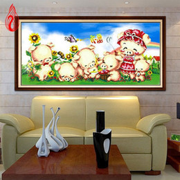 $enCountryForm.capitalKeyWord Canada - YGS-090 DIY 5D Diamonds Embroidery Happy Pig Family Magic cube Round Diamond Painting Cross Stitch Kit Diamond Mosaic Home Decor