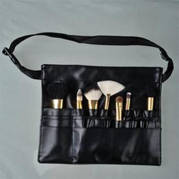 8f7bbfbd1 ... del maquillaje con el artista Correa de la correa de cuero Maquillaje  del cepillo del tenedor del bolso Bolsos cosméticos profesionales Casos  neceser
