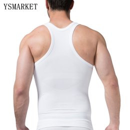Barato Roupa Interior Da Barriga Dos Homens-2017 Men's Slimming Body Shaper Vest Belly Fatty Underwear Compressão Tummy Undershirt Novo Plus Size Waist Trainer Corset S369