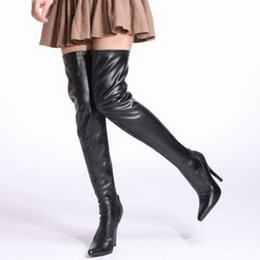 knee boots sex Canada - 12CM High Height Sex boots Women Heels Pointed Top Stiletto Heel Over-The-Knee Boots No.1301